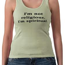Spiritual not religious woman t-shirt