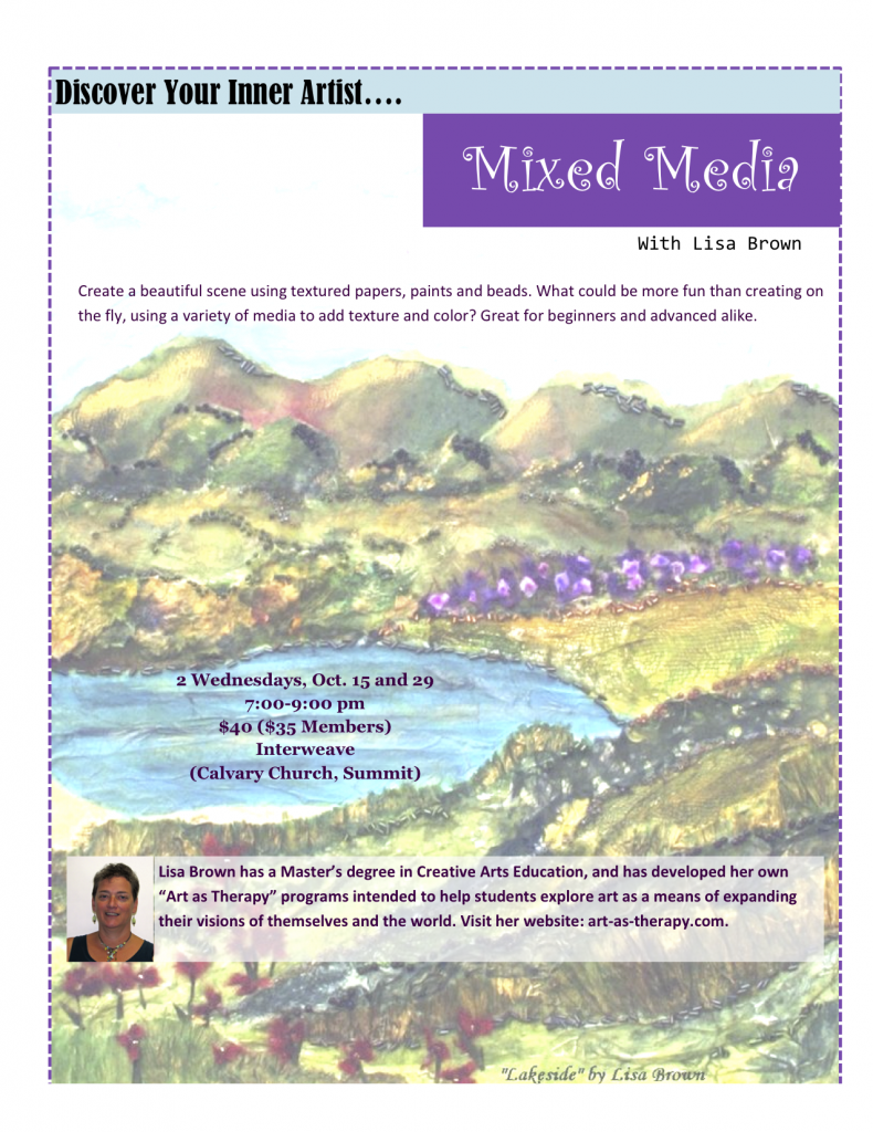 Discover Your Inner Artist: Mixed Media @ Interweave (Calvary Church, Summit | Summit | New Jersey | United States