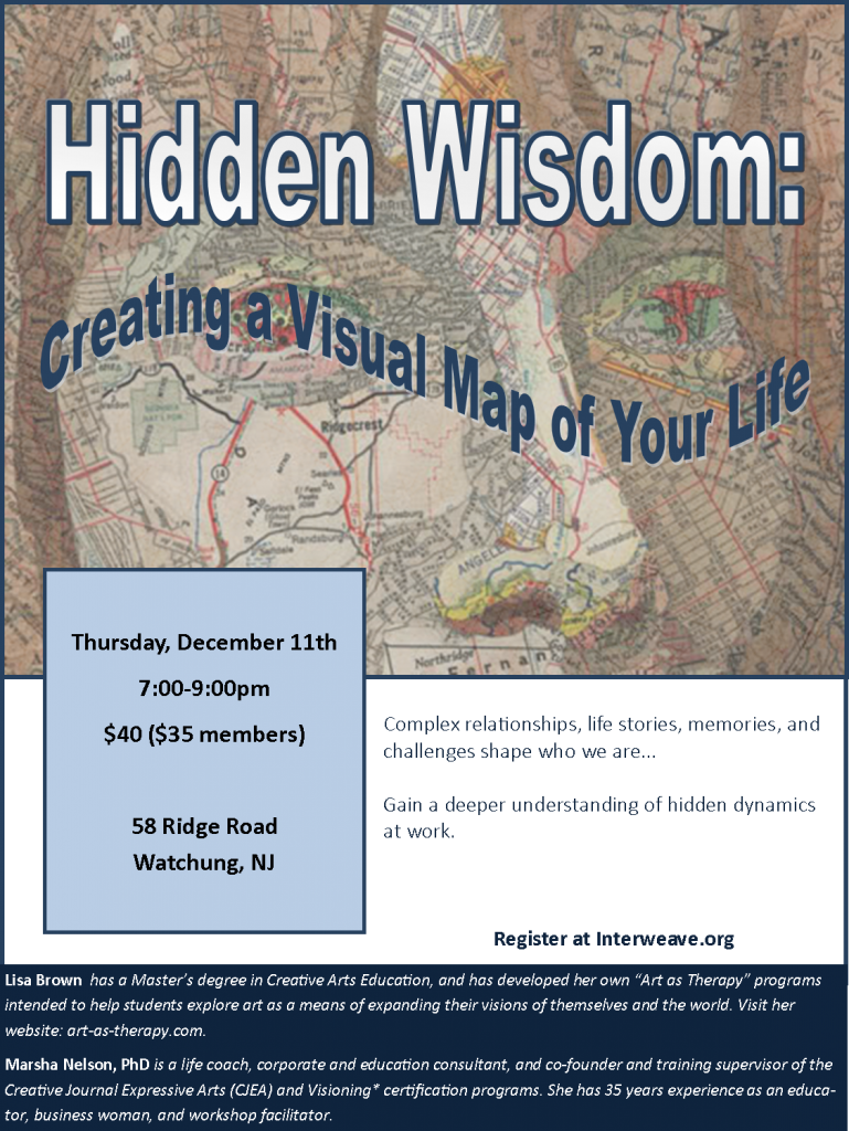Hidden Wisdom: Creating a Visual Map of Your Life @ Lisa Brown's Studio   Watchung   New Jersey   United States