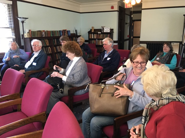 Interweave members preparing for a viewing of Enemy of the Reich. UPF film showings are an important part of our Interfaith Peace Initiative.